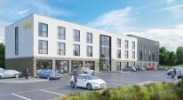 CGI of the planned hotel as part of the Higher Trewhiddle Farm development in St Austell